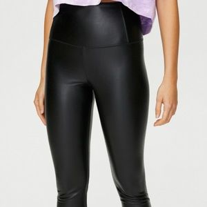 Wilfred free faux leather leggings.